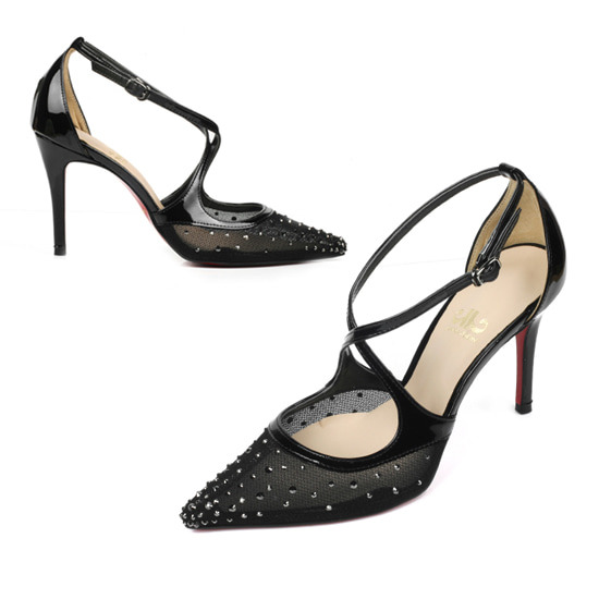 crystals embellish a sheer mesh pump_Seethrough Pointed