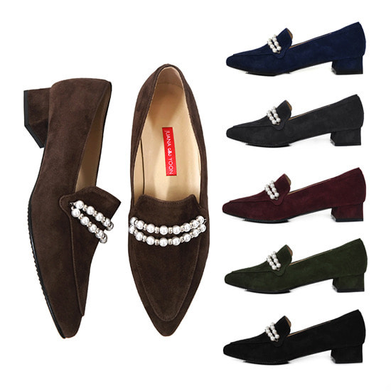 Pearl Embellished Loafer_Pearl In Love